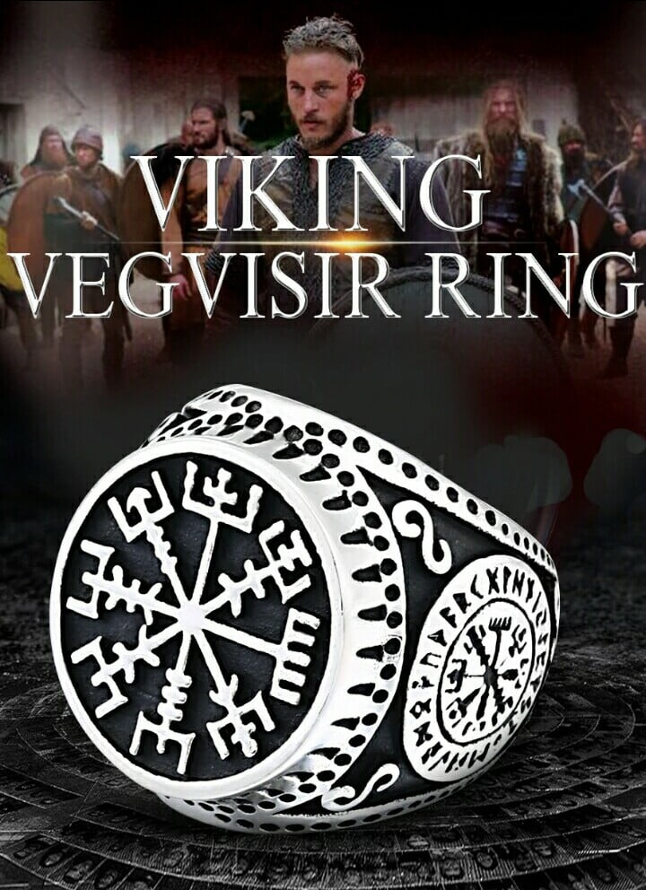 Anel masculino/Vikings em Aço Inoxidável 316L alta qualidade