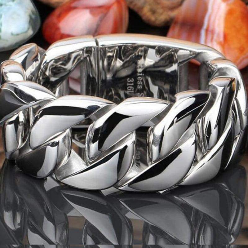 Pulseira clássica jóias em Aço Inoxidável 316L alta qualidade