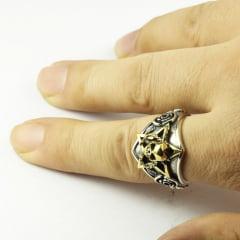 Anéis de caveira em prata  esterlina 925 maciça