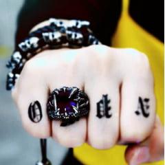 Anéis masculino garra de dragão/ Aço Inoxidável 316l/ Pedra zircão