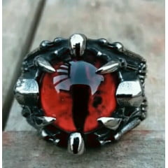 #Anel masculino+ jóias em Aço Inoxidável 316L /garra com olho em pedra Zircon