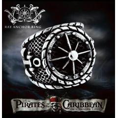 Anel bússola Piratas do Caribe em aço inoxidável 316L alta qualidade .