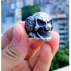 Anel masculino coringa em aço inoxidável 316L
