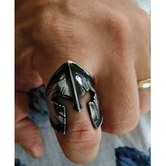 Anel masculino Spartacus em aço inoxidável 316L alta qualidade