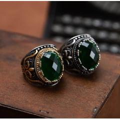 Lindo anel estilo turco classe e elegância em aço inoxidável alta qualidade joia pra vida toda .L