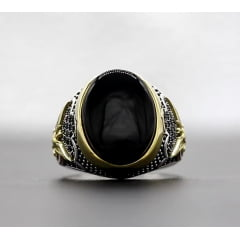 Anel masculino em prata 925 estilo turco linda joia