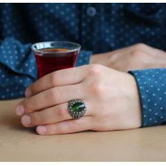 Lindo anel masculino em prata 925 com pedra zircão .