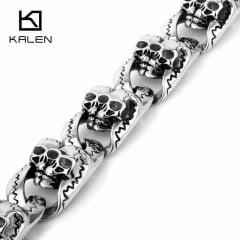Pulseiras de caveira jóias em Aço Inoxidável 316L alta qualidade estilo rock metal
