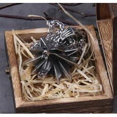 Colar Geralt de Rivia the Witcher em aço inoxidável joia para a vida toda .