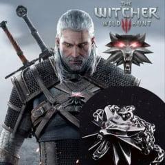 Colar Geralt de Rivia The Witcher em aço inoxidável joia pra vida toda