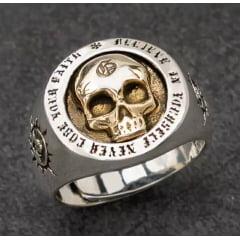 Anéis caveiras personalizadas em prata esterlina 925 tamanho ajustável .