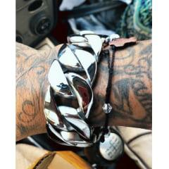Bracelete largo pesado lindo joia muito marcante feita com Aço Inoxidável 316L alta qualidade