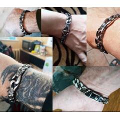Bracelete nórdico em aço inoxidável 316L