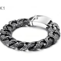 Novas pulseira Nórdicas Jóias em aço inoxidável 316L alta qualidade