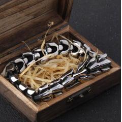 Bracelete Vikings Dragon em aço inoxidável 316L alta qualidade linda joia pra vida toda