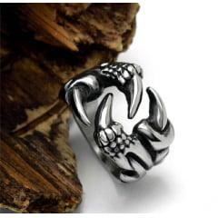 Anel masculino garra de dragão em aço inoxidável 316L alta qualidade joia para a vida toda
