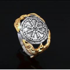 anel masculino vikings em aço inoxidável 316L joia pra vida toda