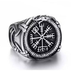 Anel nórdico runa vikings em aço inoxidável 316L