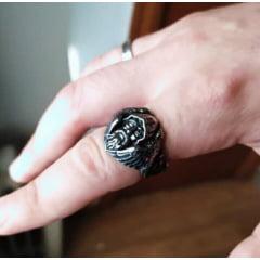 Anel Vikings Odin em aço inoxidável 316L joia para a vida toda .