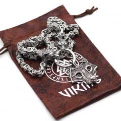 Colar pingente lobo linda joia vikings em aço inoxidável 316L alta qualidade joia para a vida toda