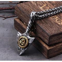 Colar Viking rune valknut  joia  nórdica em aço inoxidável 316L