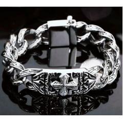 Pulseira Vikings jóias em  Aço Inoxidável 316L estilo Nórdico